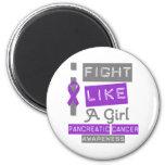 Pancreatic Cancer Label Logo I Fight Like A Girl Fridge Magnets