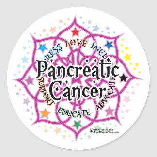 Pancreatic Cancer Lotus Classic Round Sticker