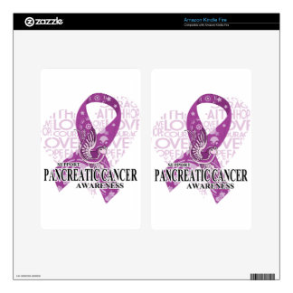 Pancreatic Cancer Love Hope Bird Kindle Fire Decals
