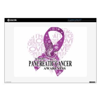 Pancreatic Cancer Love Hope Bird Laptop Skin