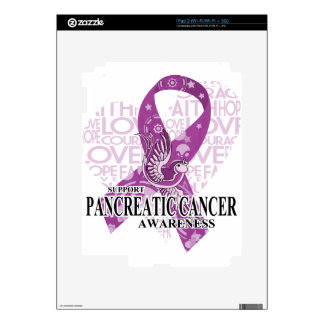 Pancreatic Cancer Love Hope Bird Skins For iPad 2