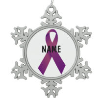 Pancreatic Cancer Memorial Ornament
