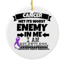 Pancreatic Cancer Met Its Worst Enemy in Me Ceramic Ornament