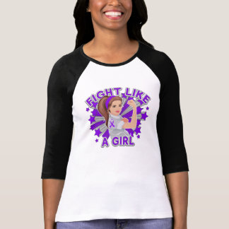 Pancreatic Cancer Modern Rosie Fight T Shirt