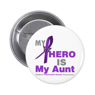 Pancreatic Cancer My Hero is My Aunt Pinback Button