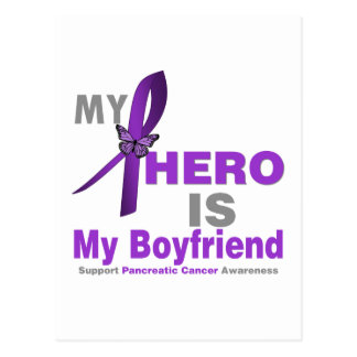 Pancreatic Cancer My Hero is My Boyfriend Postcards