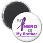 Pancreatic Cancer My Hero is My Brother Refrigerator Magnet