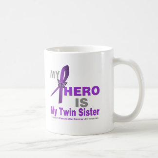 Pancreatic Cancer My Hero is My Twin Sister Classic White Coffee Mug