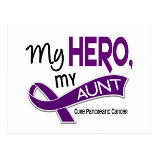 Pancreatic Cancer MY HERO MY AUNT 42 Postcard