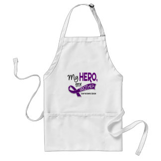 Pancreatic Cancer MY HERO MY BROTHER 42 Adult Apron