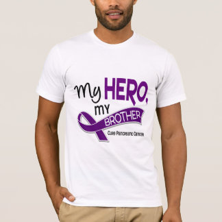 Pancreatic Cancer MY HERO MY BROTHER 42 T-Shirt