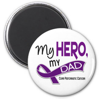 Pancreatic Cancer MY HERO MY DAD 42 Magnet
