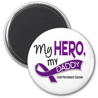 Pancreatic Cancer MY HERO MY DADDY 42 2 Inch Round Magnet