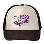 Pancreatic Cancer MY HERO MY GRANDPA 42 Mesh Hat
