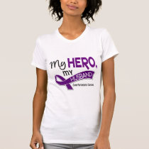 Pancreatic Cancer MY HERO MY HUSBAND 42 T-Shirt