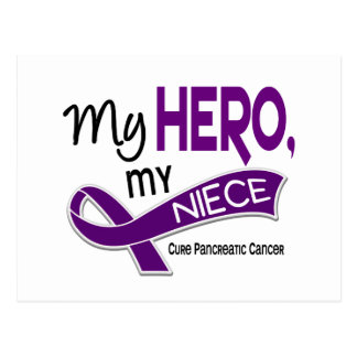 Pancreatic Cancer MY HERO MY NIECE 42 Postcard