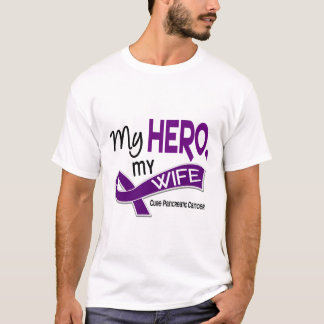 Pancreatic Cancer MY HERO MY WIFE 42 T-Shirt