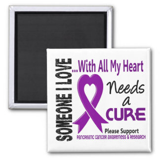 Pancreatic Cancer Needs A Cure 3 2 Inch Square Magnet