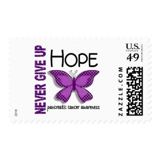 Pancreatic Cancer Never Give Up Hope Butterfly 4.1 Postage Stamp