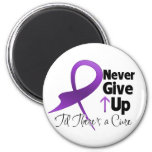 Pancreatic Cancer Never Give Up 2 Inch Round Magnet