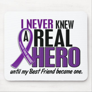 Pancreatic Cancer NEVER KNEW A HERO 2 Best Friend Mouse Pad