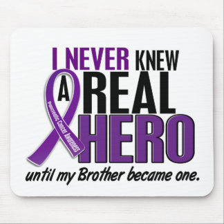 Pancreatic Cancer NEVER KNEW A HERO 2 Brother Mouse Pad