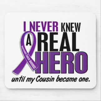 Pancreatic Cancer NEVER KNEW A HERO 2 Cousin Mouse Pad