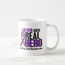 Pancreatic Cancer NEVER KNEW A HERO 2 Dad Coffee Mug