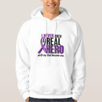 Pancreatic Cancer NEVER KNEW A HERO 2 Dad Hoodie