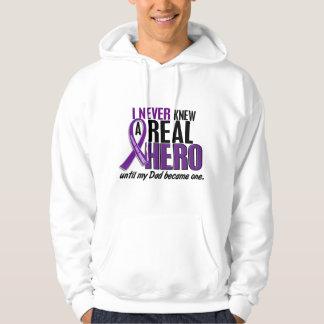 Pancreatic Cancer NEVER KNEW A HERO 2 Dad Sweatshirt