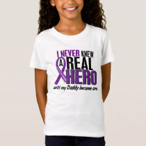 Pancreatic Cancer NEVER KNEW A HERO 2 Daddy T-Shirt