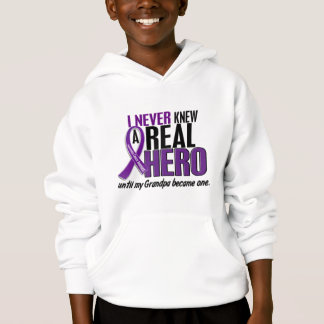 Pancreatic Cancer NEVER KNEW A HERO 2 Grandpa Hoodie