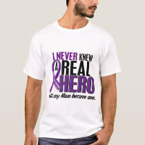 Pancreatic Cancer NEVER KNEW A HERO 2 Mom T-Shirt