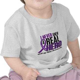 Pancreatic Cancer NEVER KNEW A HERO 2 Nana Tee Shirt
