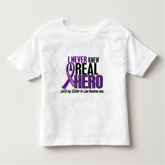 Pancreatic Cancer NEVER KNEW A HERO 2 Sister-In-La Toddler T-shirt
