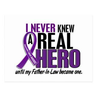 Pancreatic Cancer NEVER KNEW HERO 2 Father-In-Law Postcard
