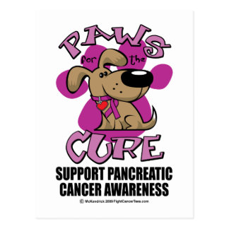 Pancreatic Cancer Paws for the Cure Postcard
