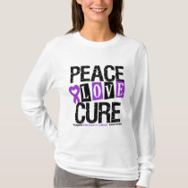 Pancreatic Cancer Peace Love Cure T-Shirt