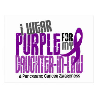 Pancreatic Cancer Purple For My Daughter-In-Law 6 Postcard