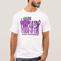 Pancreatic Cancer Purple For My Father-In-Law 6.2 T-Shirt
