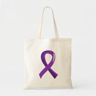 Pancreatic Cancer Purple Ribbon 3 Budget Tote Bag