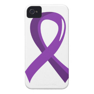 Pancreatic Cancer Purple Ribbon 3 iPhone 4 Covers