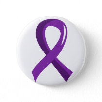 Pancreatic Cancer Purple Ribbon 3 Pinback Button