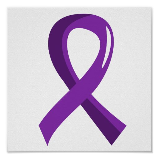 Pancreatic Cancer Purple Ribbon 3 Poster