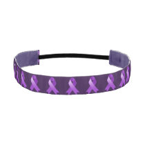 Pancreatic Cancer Purple Ribbon Athletic Headband