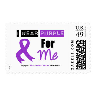 Pancreatic Cancer Purple Ribbon For Me Stamp