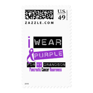 Pancreatic Cancer Purple Ribbon For My Grandson Postage