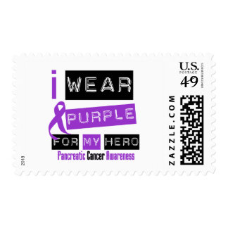 Pancreatic Cancer Purple Ribbon For My Hero Postage