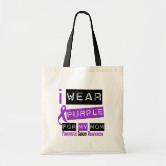 Pancreatic Cancer Purple Ribbon For My Mom Budget Tote Bag