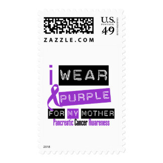 Pancreatic Cancer Purple Ribbon For My Mother Stamp